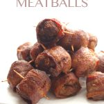 Low Carb Bacon-Wrapped Meatballs