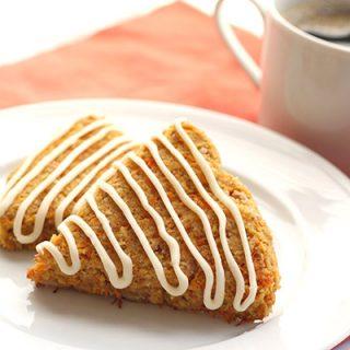 Low Carb Grain-Free Carrot Cake Scone Recipe