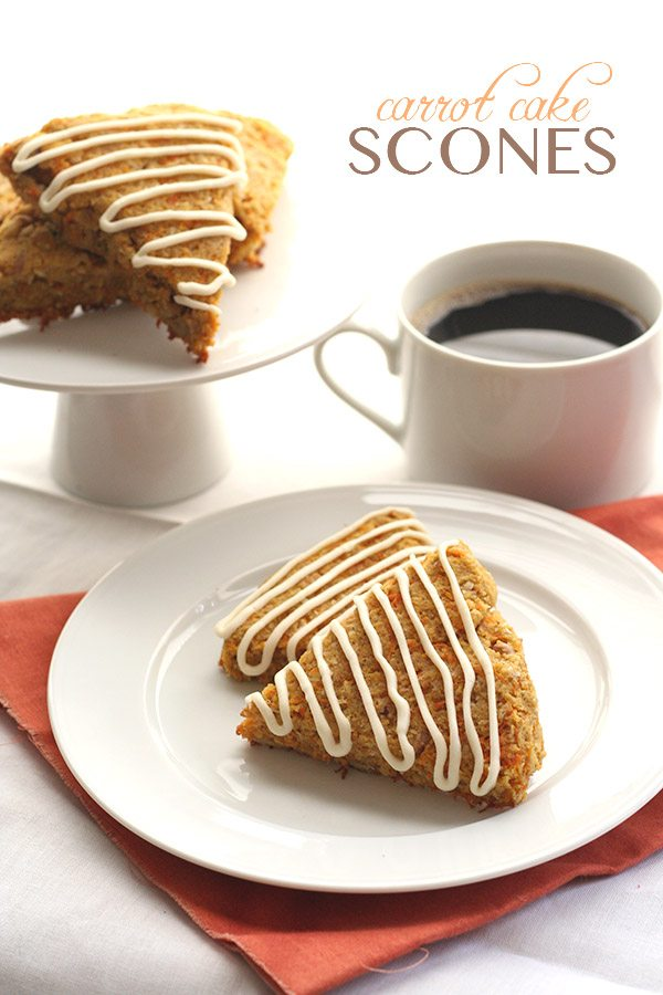 Low Carb Carrot Cake Scones