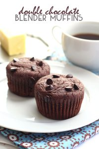 Low Carb Double Chocolate Blender Muffins