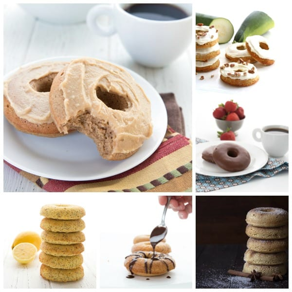 A collage of delicious keto donuts