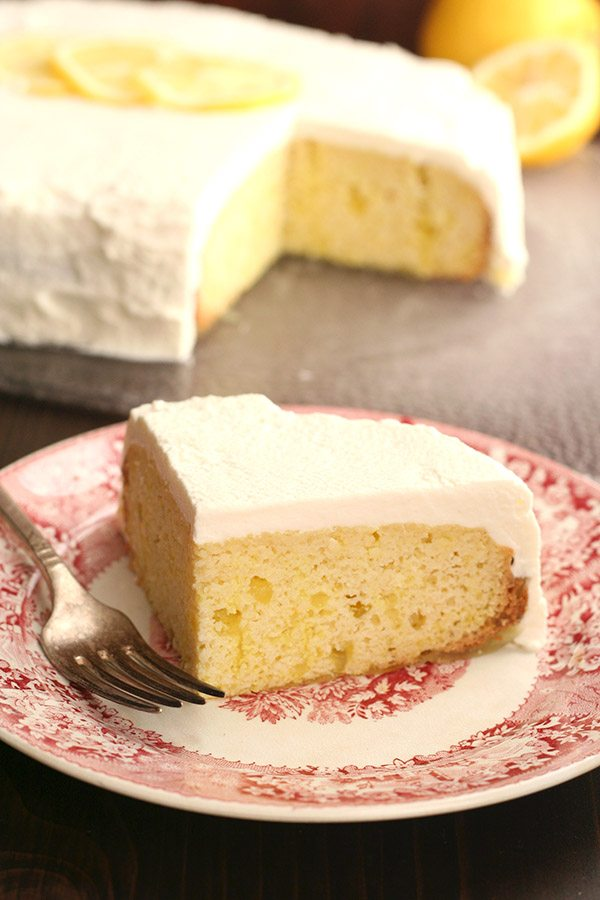 Sugar-Free Slow Cooker Lemon Poke Cake