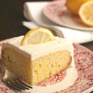 Low Carb Slow Cooker Lemon Poke Cake