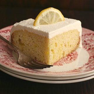 Slow Cooker Lemon Poke Cake - Low Carb Grain-Free