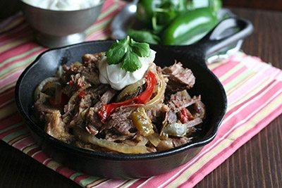 Low Carb Paleo Slow Cooker Steak Fajitas