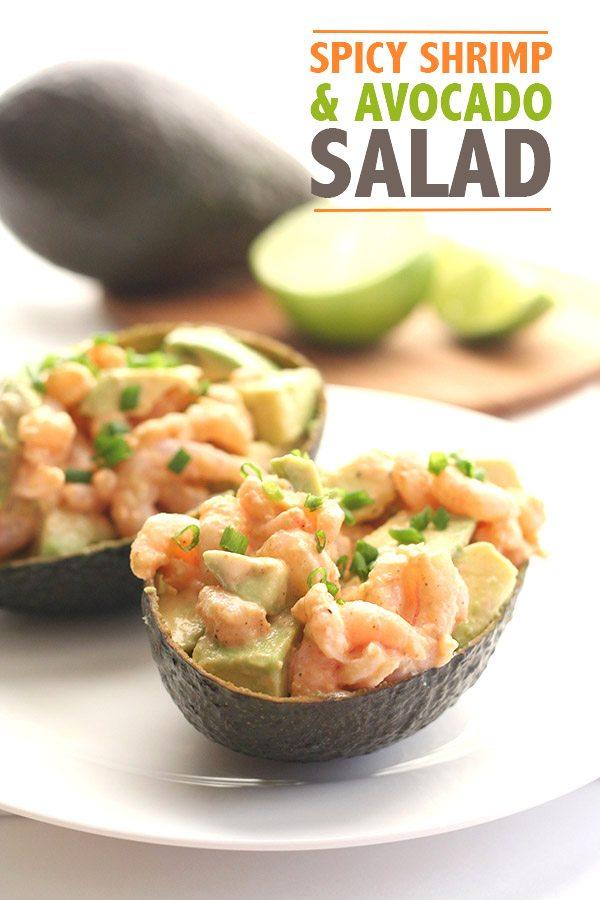 Spicy Low Carb Shrimp Avocado Salad