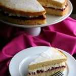 Low Carb Victoria Sponge with Clotted Cream and Raspberry Jam