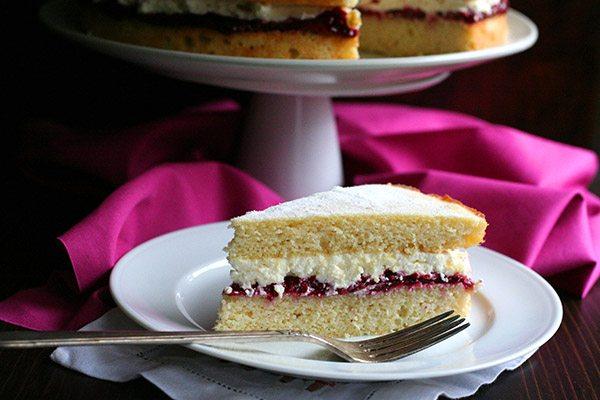 Sugar-Free Grain-Free Victoria Sponge Cake