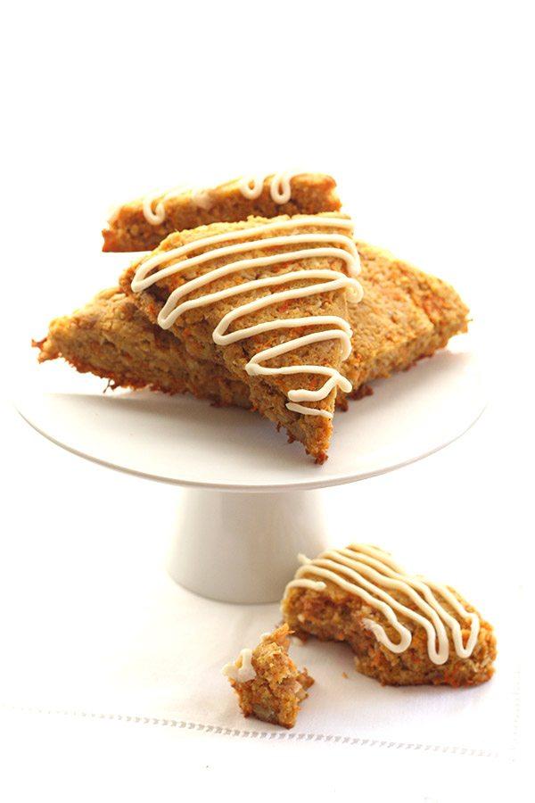 Sugar-Free Gluten-Free Carrot Cake Scones