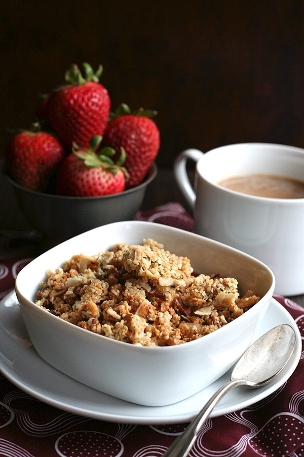 Easy low carb cereal recipe - banana nut, grain-free and sugar-free.