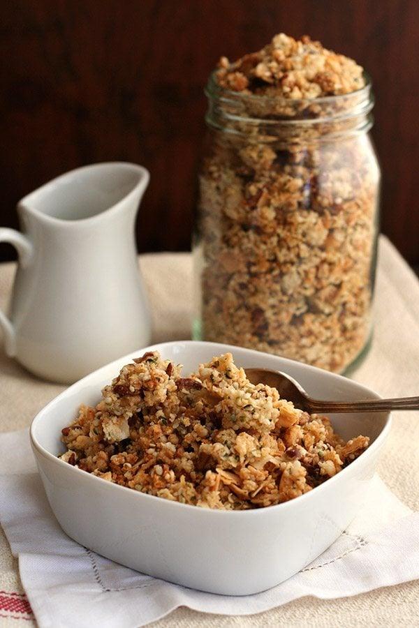 Low carb sugar-free banana bread cereal recipe