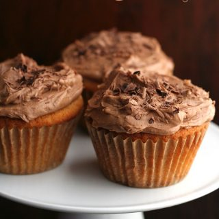 Caramel Cupcakes with Milk Chocolate Frosting