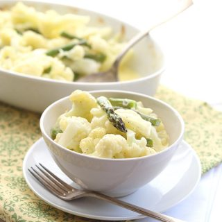 Lemony Mascarpone Cauliflower Mac 'N Cheese