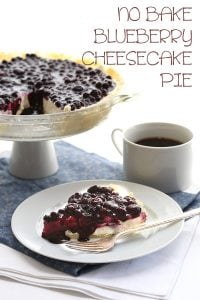 Low Carb No Bake Blueberry Cheesecake Pie