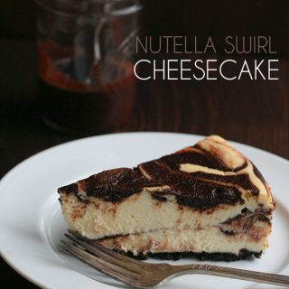 Low Carb Grain-Free Nutella Swirl Cheesecake Recipe