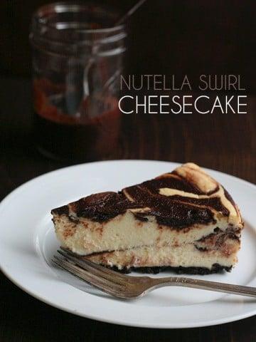 Low Carb Grain-Free Nutella Swirl Cheesecake Recipe