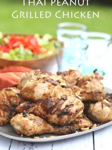 Low Carb Thai Peanut Grilled Chicken Recipe