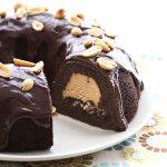 Low Carb Chocolate Peanut Butter Buckeye Cake