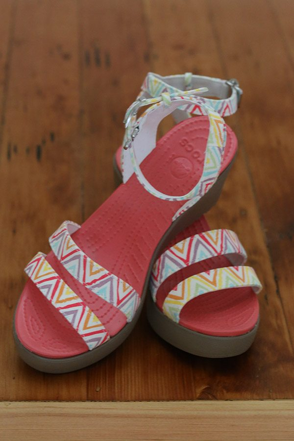 Fun and stylish Crocs - the Leigh Graphic Wedge