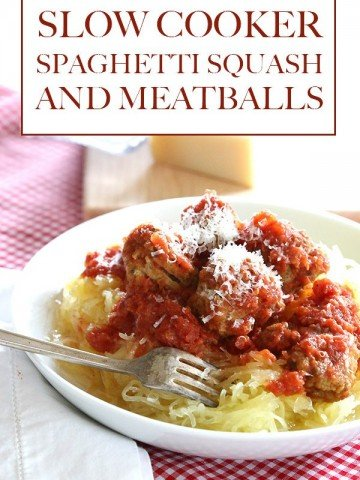 Low Carb Slow Cooker Spaghetti Squash and Meatballs