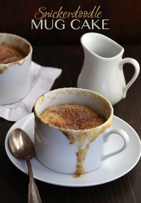 titled image (and shown): Low Carb Snickerdoodle Mug Cake