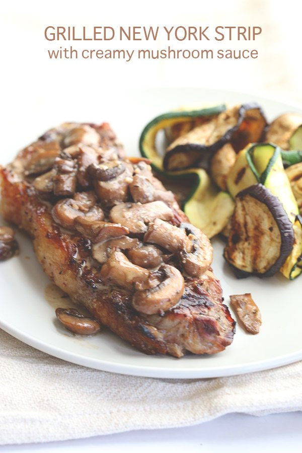 Low Carb Grilled Steak And Mushrooms