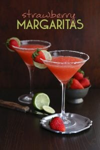 Low Carb Sugar-Free Strawberry Margaritas