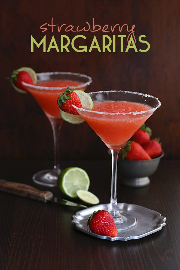 Low Carb Sugar-Free Strawberry Margaritas