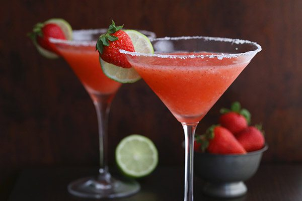 Healthy Fresh Strawberry Margaritas
