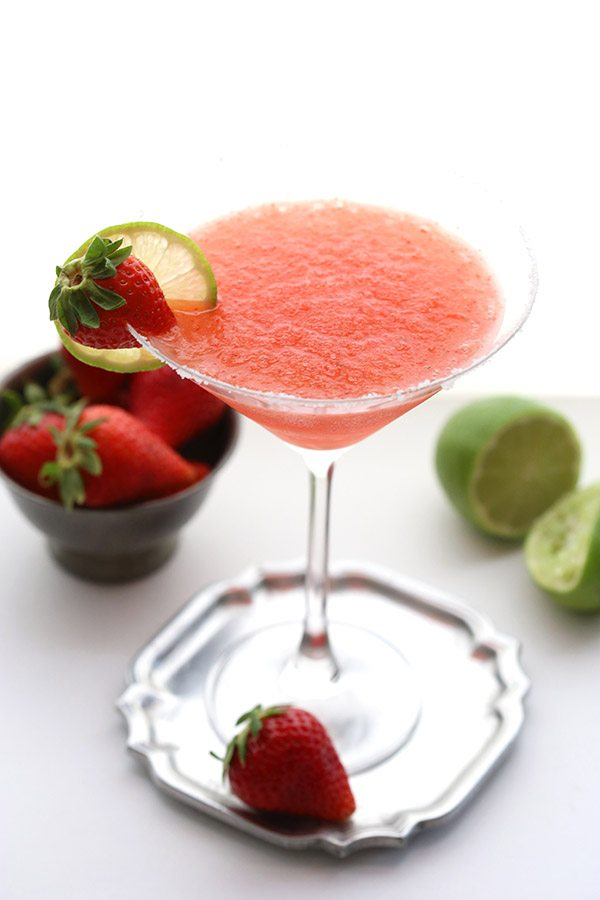 Fresh Strawberry Margaritas no sugar added