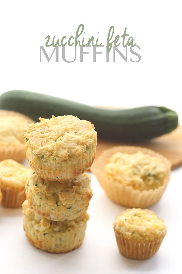 Low Carb Savory Zucchini Feta Muffins