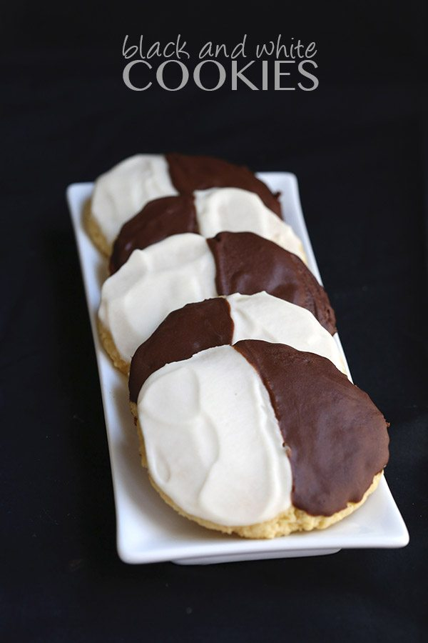 Low carb grain-free black and white half moon cookies. Seinfeld would be proud!