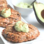 Low carb grain-free Cajun Salmon Burger recipe