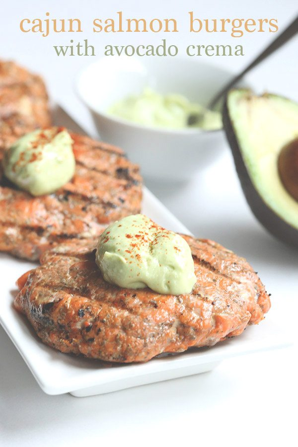 Cajun Salmon Burgers with Avocado Crema 5 copy