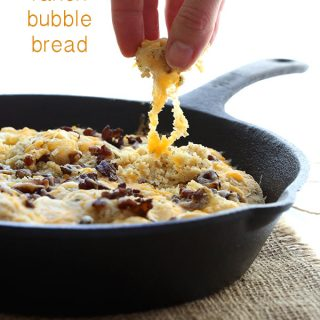 Low Carb Cheesy Bacon Ranch Bubble Bread