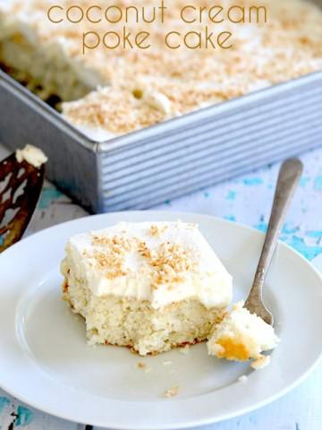 Low Carb Coconut Cream Poke Cake Recipe