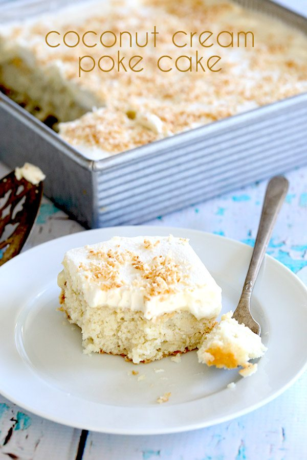 Low Carb Coconut Cream Poke Cake Recipe All Day I Dream About Food