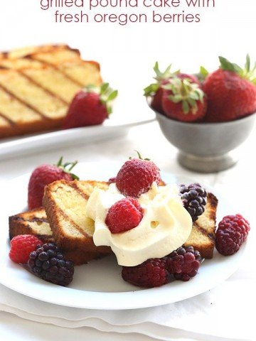 Low Carb Grilled Pound Cake Recipe with Mixed Berries