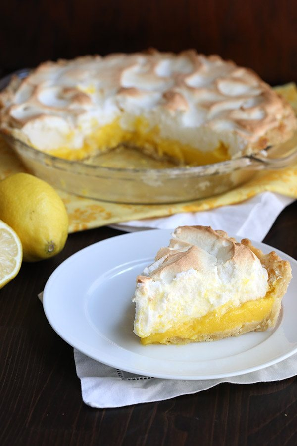 Classic lemon meringue pie made low carb and gluten-free. It's heavenly!