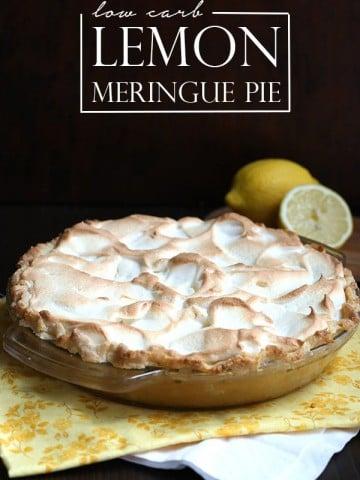 Low carb lemon meringue pie recipe, a classic!
