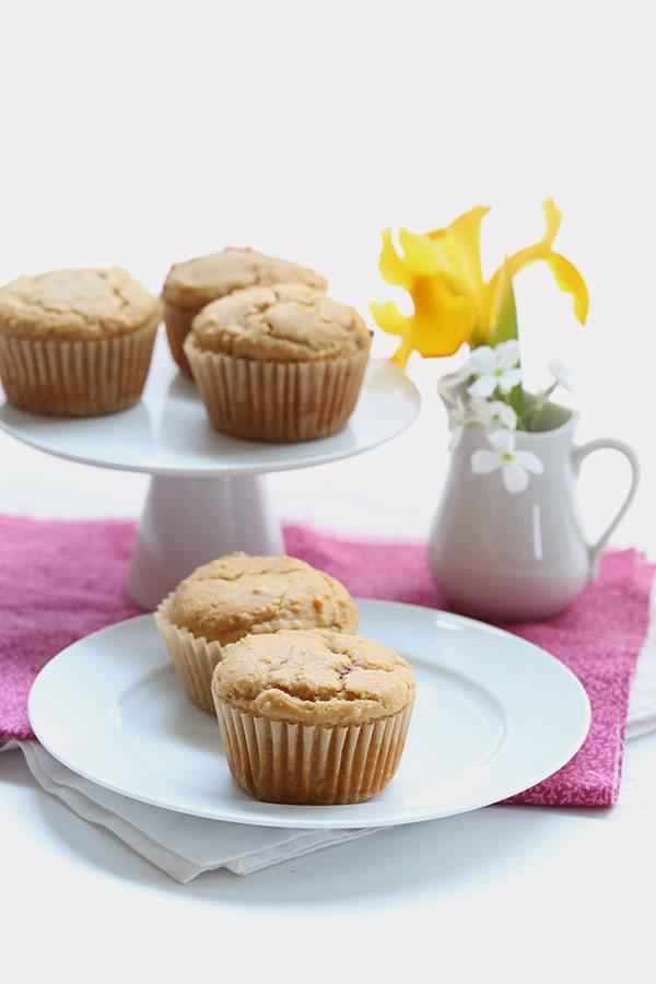 Sugar-Free Peanut Butter & Jam Muffins