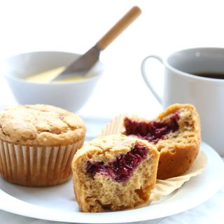 Low Carb Peanut Butter & Jam Muffins