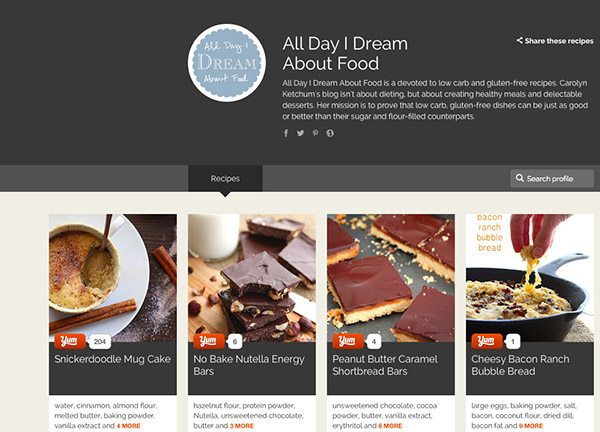 All Day I Dream About Food on Yummly