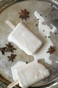 Low carb chai tea ice pops