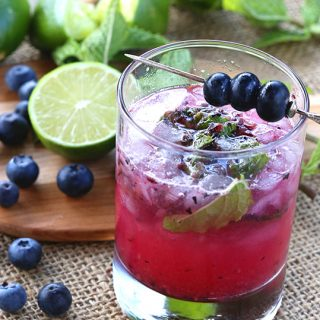 Low Carb Blueberry Mojito Recipe