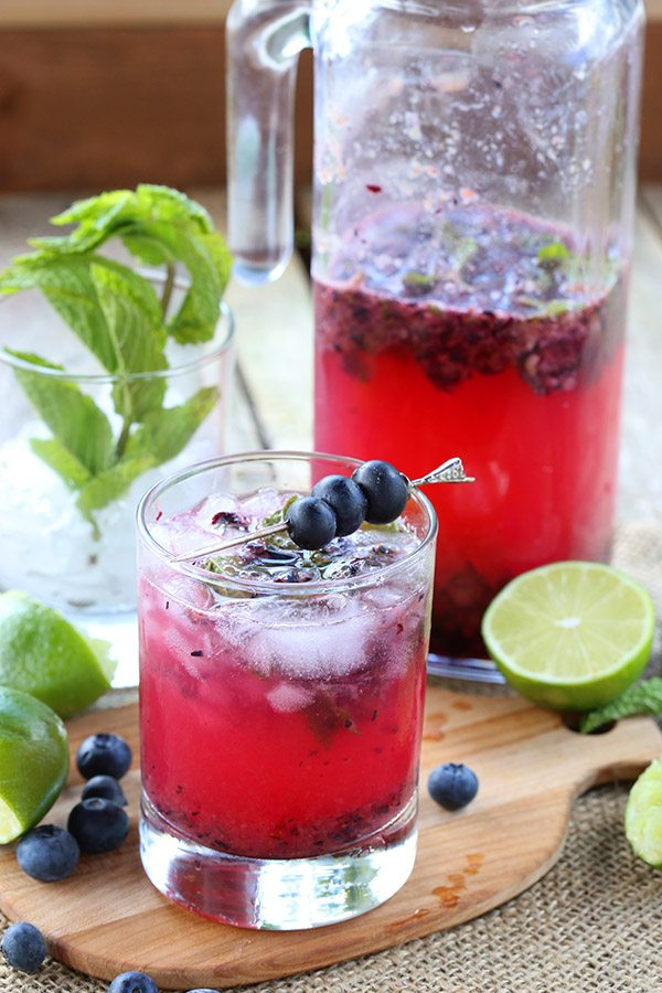 Sugar-Free Blueberry Mojitos