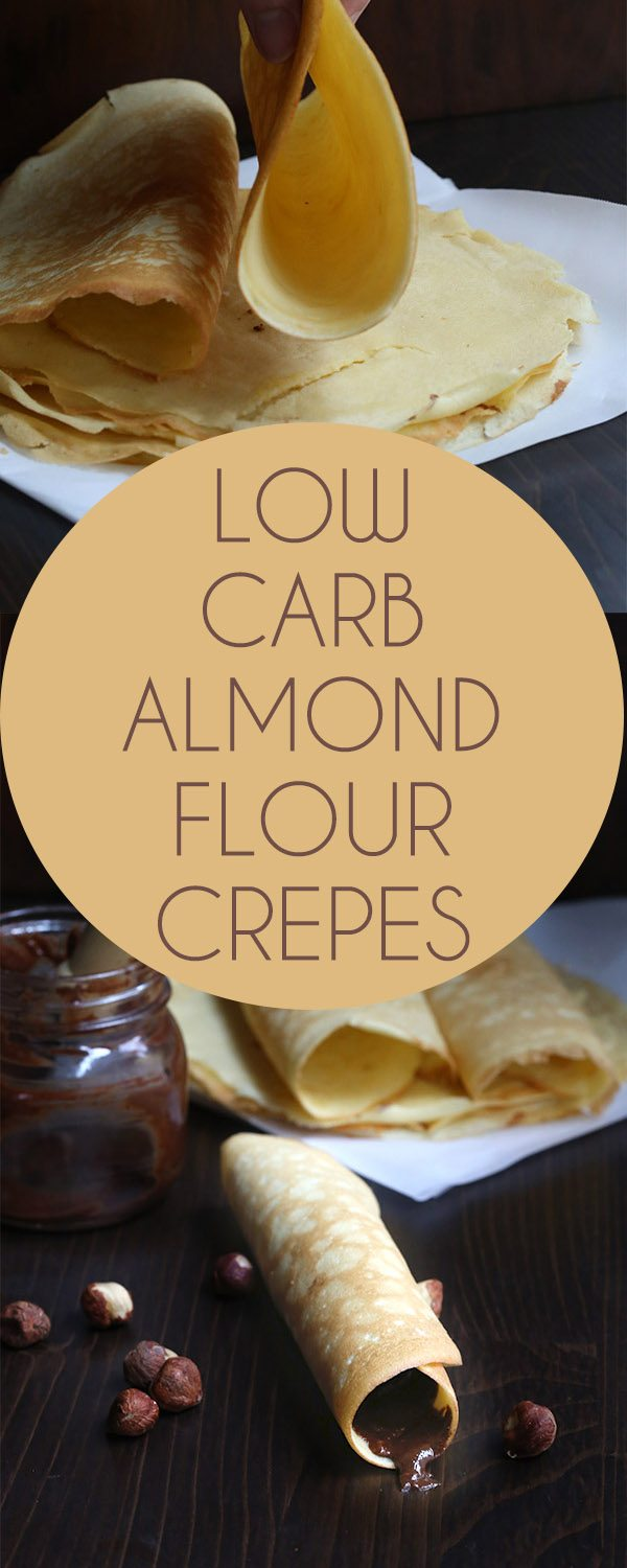 These wonderful keto crepes stay soft and flexible, even after they cool. A delicious low carb sugar-free recipe. Gluten-free.