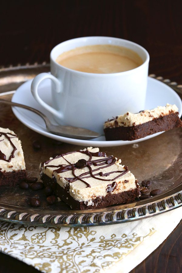 Low Carb Sugar Free Brownies with Espresso Buttercream