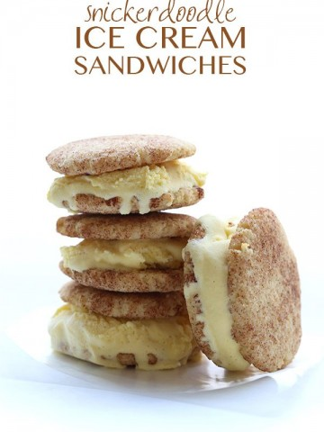 Low Carb Snickerdoodle Ice Cream Sandwiches