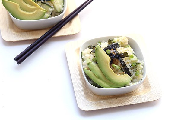 Low Carb Grain-Free Sushi Roll Cauliflower Salad Recipe